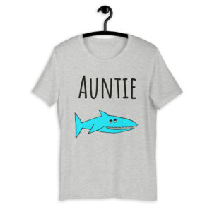 auntie shark shirt mockup